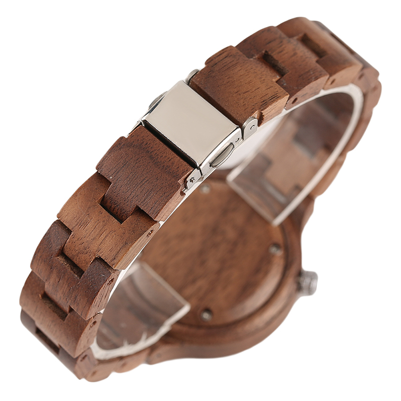 Creative Full Wooden Women Watches Klassisk Håndlavet Bangle Bamboo - Dameure - Foto 4