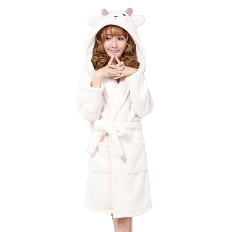 New-arrival-autumn-and-winter-women-s-cartoon-fleece-soft-bathrobe-with-hood-lovely-juniros-girls (4)