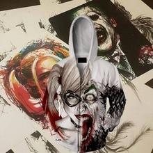 цена на Suicide Squad Harley Quinn Hoodie Harleen Quinzel Joker Mr.J Cosplay Costume Anime Hoodie Sweatshirts Men Women New