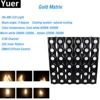 2018 New 36x3W Led Gold Matrix Light 5/36 channels led lamp 3 Beam angle 255 Inner Pattern DMX512 AC90 240V for DJ Disco stage