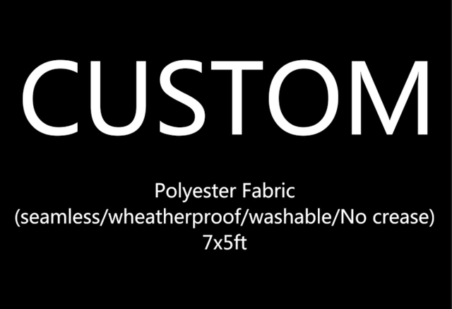 5x7ft Polyester Fabric Custom Outdoor Seamless Reusable Washable Wrinkle Free One Piece Banner Photo Studio Background Backdrop