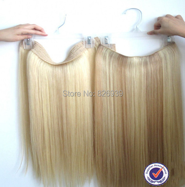 Silky Straight Flip In Hair Extensions Double Drawn Halo Hair