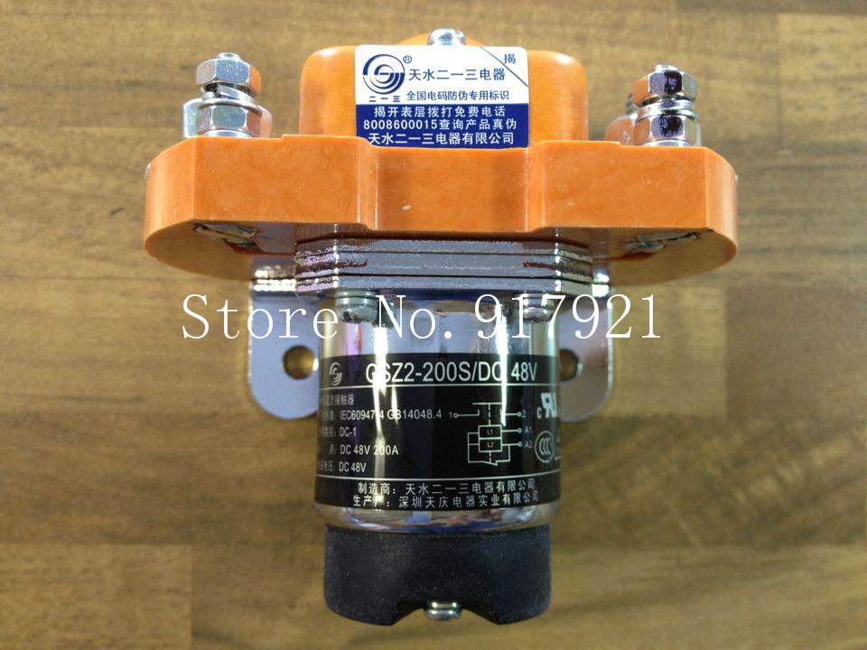 [ZOB] Tianshui two one three genuine GSZ2-200S unipolar DC contactor DC48V 200A forklift generator --5pcs/lot