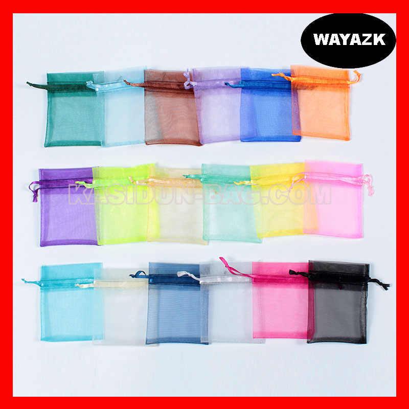 (500 шт./лот) Доступно 4 размера, оптовая продажа, качественная фиолетовая органза, Подарочная сумка на шнурке