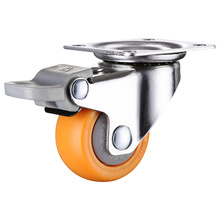 4pcs 1 inch 25mm Heavy Duty 60kg Orange Swivel Castor Wheels Trolley Furniture Caster Rubber castor 2008 1
