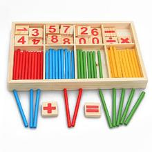 Hot Sale Baby Toy Wooden Blocks Montessori Educational Toys Mathematical Intelligence Stick Building Blocks gift