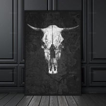 Wall Art Picture Canvas Painting Poster decoration for the living room wall art picture cattle print on the canvas no Frame(China)