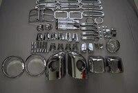 ABS хром все комплект двери Задний фонарь решетка заднего вида Зеркало противотуманная фара петля капот крышка Накладка для Jeep Wrangler JK 2/4 двер