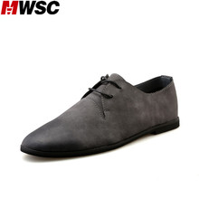 MWSC Men's New Casual Mix Colors Leather Shoes Style Male Fashion Lace Up Vintage Breathable Footwear Chaussure Homme