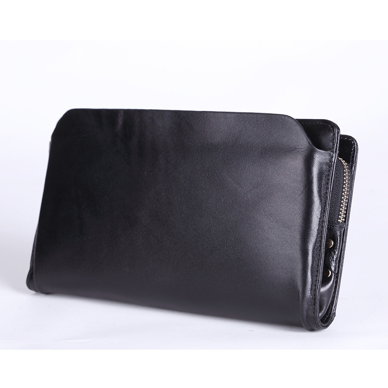 ФОТО New 2016 Vintage Business Hand Bag Men Clutch Bags Long Genuine Leather Wallet Luxury Brand Male Wallets with Wristlet YS1219