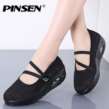 PINSEN Summer Women Flats Shoes Breathable Mesh Casual Shoes Women Sneakers High Quality Ladies Shoes Moccasin zapatos de mujer(China)