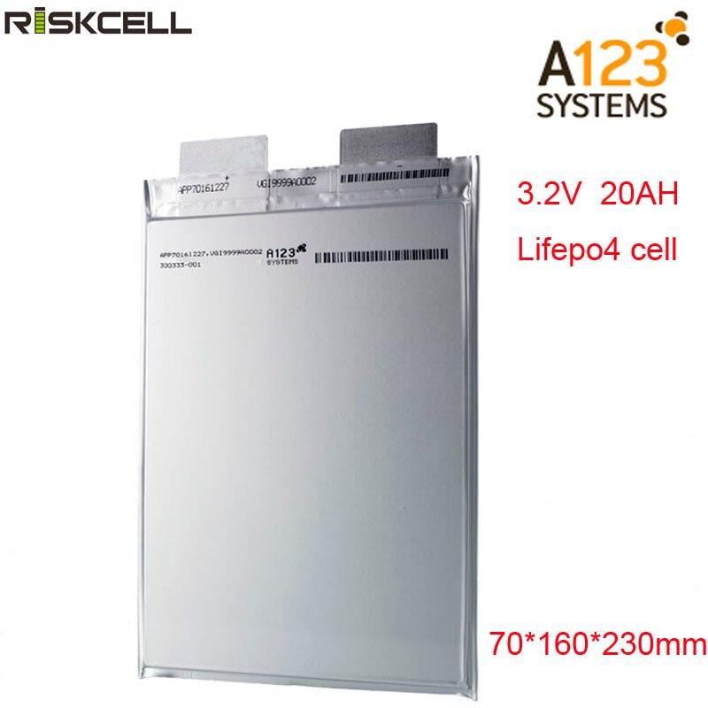 Aucune taxe originale A123 20Ah 3.2V lifepo4 li-polymère batterie rechargeable A123 20000mAh 3.2V batterie pour ebike, ev, voiture, ups