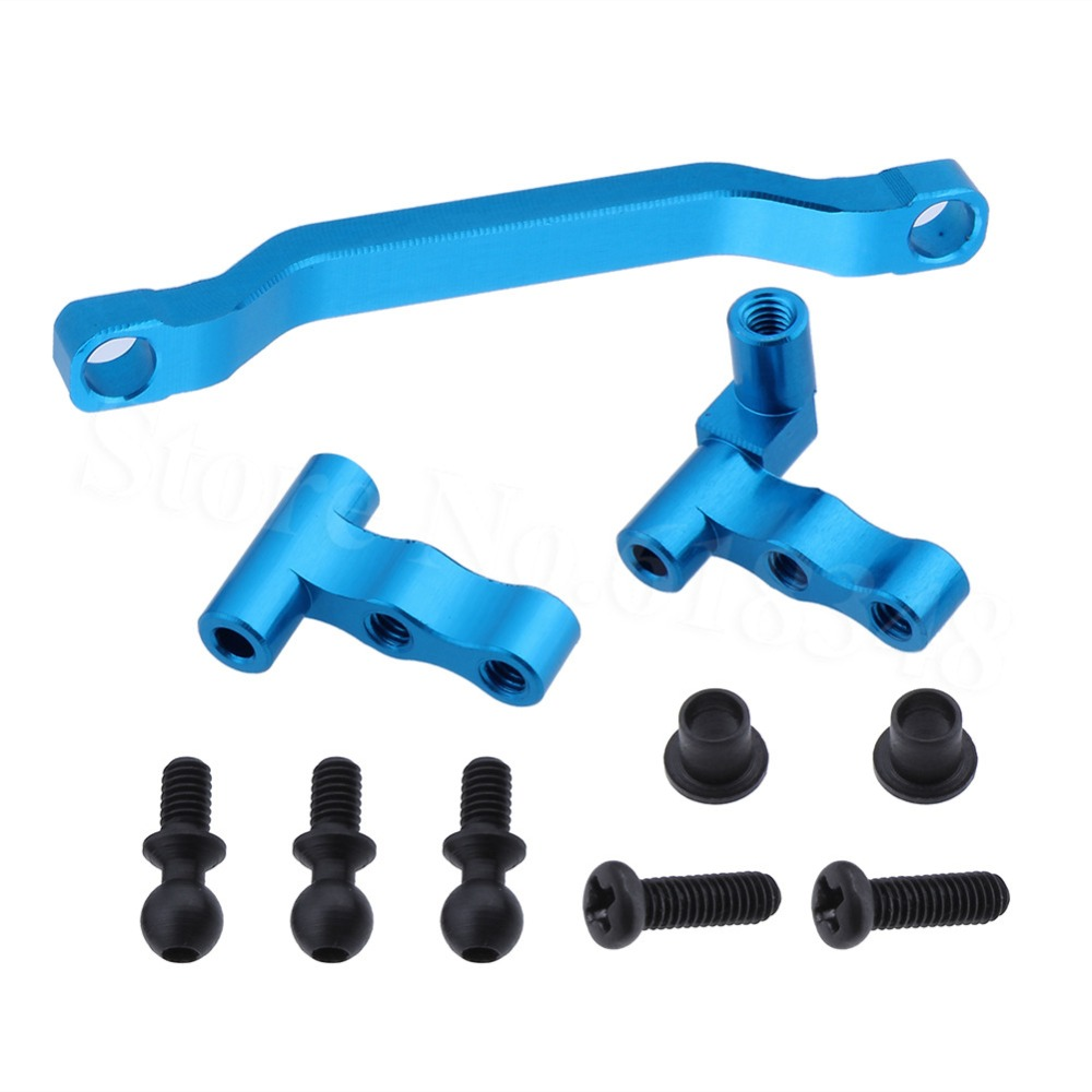 For WLtoys 1/18 A959 Upgrade Aluminum Steering Linkage Mount A949-08 RC Car A949 A959 A969 A979 Upgrade Parts wltoys 1 18 rc car upgrade parts metal diff main gear for a949 a959 a969 a979
