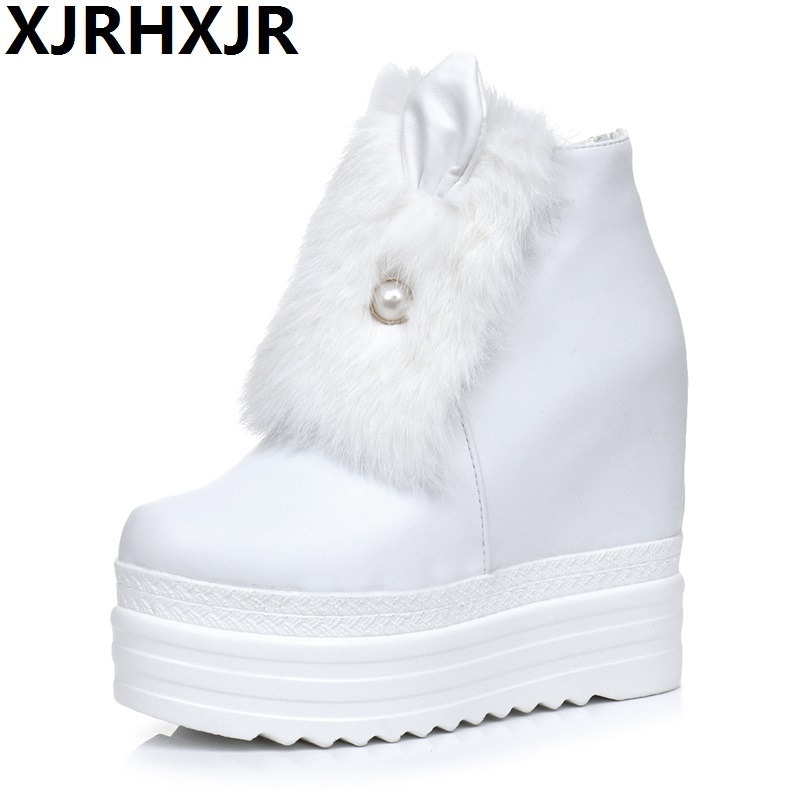 2017 Fashion Women Casual Shoes Winter Platform Wedge Ankle Boots Height Increasing Flock Shoes Keep Warm Fur Zipper Snow Boots top rated ktag k tag v6 070 car ecu performance tuning tool ktag v2 13 car programming tool master version dhl free shipping