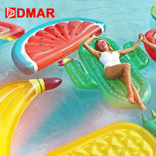 Dmar 185 Cm Inflatable Raksasa Kolam Renang Float Kasur Mainan Semangka Nanas Cactus Beach Renang Air Ring Lifebuoy Laut Pesta(China)