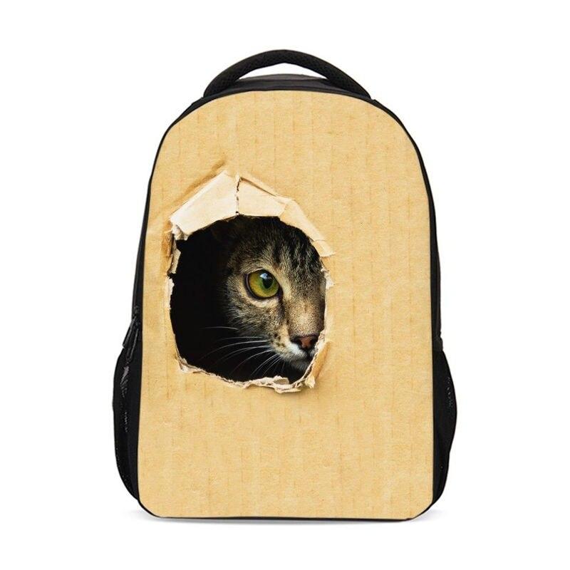 VEEVAN, фирменный дизайн, рюкзак для мальчиков и девочек, школьная сумка, очаровательные сумка с изображением кошки, собаки, 3D Печать Рюкзак для