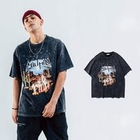 Men's short sleeved T shirt spring/summer popular logo desert do vintage wolves hip hop rock