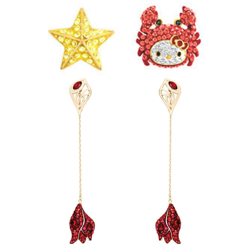 SERVICE YOU Fashion 100% Sterling Silver Original 1:1 High Quality HELLO KITTY Earring Women Jewelry Free Mail