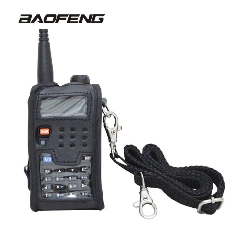 Baofeng Talkie Walkie Accessoires En Cuir Couverture Molle deux way radio Pour UV-5R UV-5RE UV-5RA