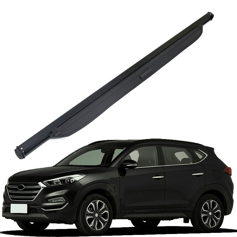 For Hyundai Tucson 2016 2017 2018 Accessories Black Rear Trunk Security Shield Cargo Shelf Shade Cover 1 set 1 set black rear trunk cargo privacy cover shield parcel shelf cargo cover for mazda cx 5 2nd gen 2017 2018 car styling