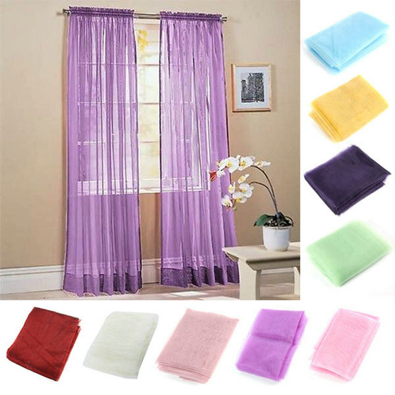 viole curtain drapes curtain cheap window curtain solid curtains for living room popular sheer 1pc 200cm