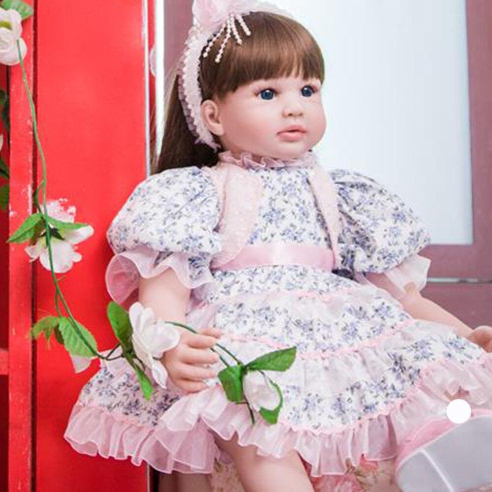 60 cm Silicone Reborn bébé poupée jouets 24 pouces princesse enfant en bas âge lol original reborn bébé poupées filles Brinquedos jouer maison jouets - 5