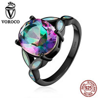 Luxurious Oval Cut Opal Classic 100 Genuine 925 Sterling Silver Rings For Women Wedding Fine Jewelry
