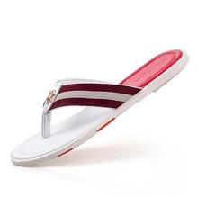 Summer Style Men  beach Flip flop Fashion Slippers leather Flop Soft Man slipper Comfortable slip flip flop,1606