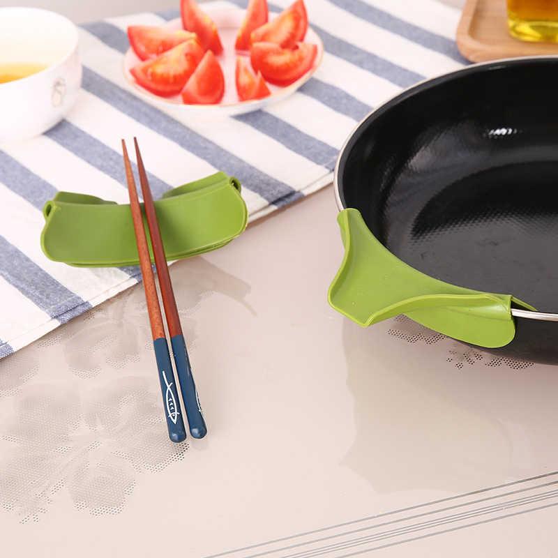 Anti-spill Silikon Suppe Trichter Stäbchen Messer Gabel Halter Umweltfreundliche Töpfe Pfannen Schalen Gläser Gadgets Coole Küche Zubehör