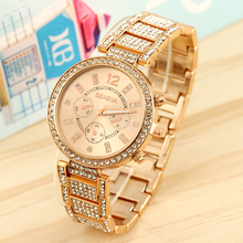 Luxury Jewelry Watches Rhinestone Plated Stainless Steel Watches Fashion Women's Watches Classic Ladies' Wrist Watch