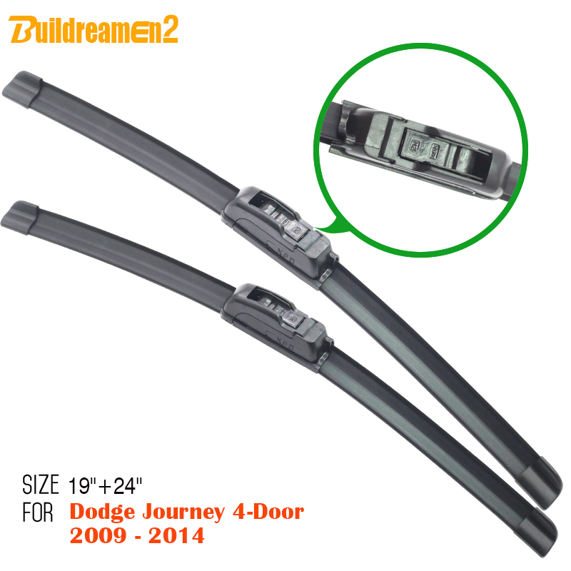 Buildreamen2 Car Windshield Soft Rubber Wiper Blade Bracketless Windscreen Wiper For Dodge Journey 4-Door 2009-2014