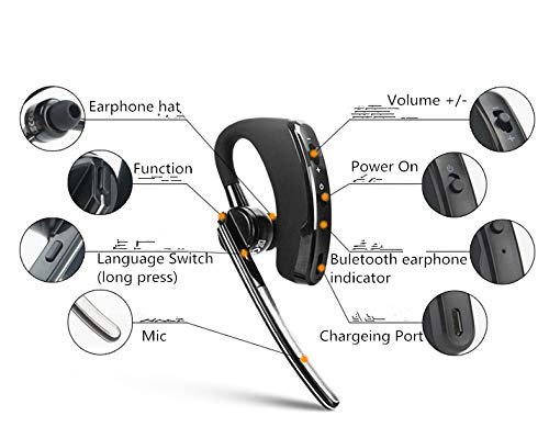 Image 5 - Walkie talkie Bluetooth PTT earpiece Handfree wireless headphone headset Mic For BaoFeng UV 82 UV 5R BF 888S TYT Two way radio-in Walkie Talkie from Cellphones & Telecommunications