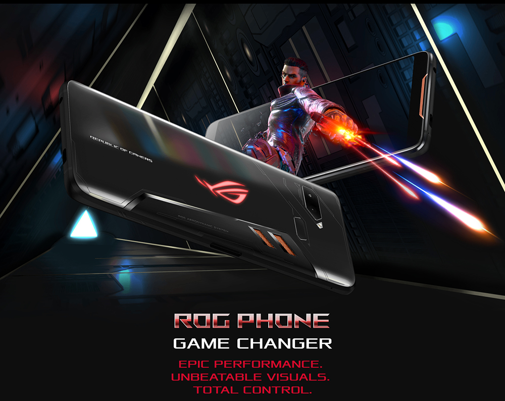 "ASUS ROG Telephone ZS600KL 8GB RAM 128GB ROM Gaming Phone Snapdragon 845 2.96GHz 6.0""18:9 AMOLED Screen Android8.1 4000mAh OTA 44"