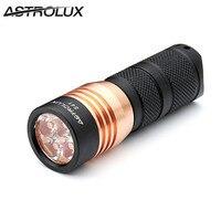 Astrolux S41 1600LM מיני עמיד למים 4x 219C Nichia/XP-G3 A6 אור LED 18350 16340 לפיד פנס + קליפ + O-טבעת + שרוך