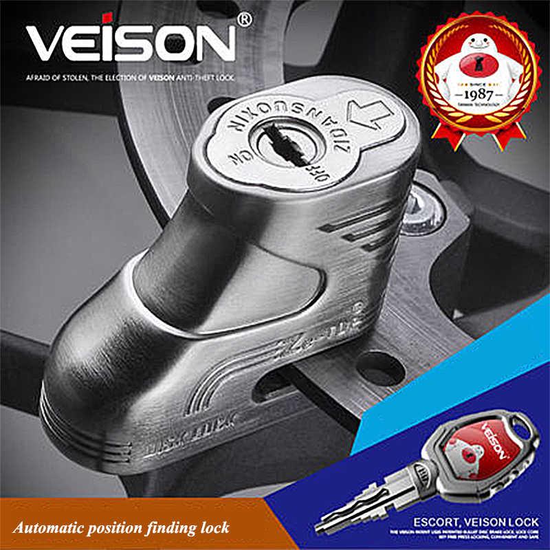 Veison Moto Skuter Sepeda Motor Rotor Rem Cakram Kunci 5 Mm Pin Sepeda Motor/MTB + 2 Kunci Sepeda Sepeda Gunung tetap Anti Pencurian Kunci
