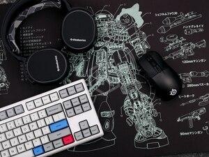 Image 4 - Mechanische tastatur Mousepad zaku II ms 06 900 400 4mm nicht Genäht Kanten Weiche/Gummi Hohe qualität