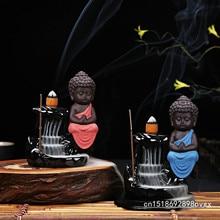 Incense Cones Burner Small Buddha Censer Backflow Incense Burner
