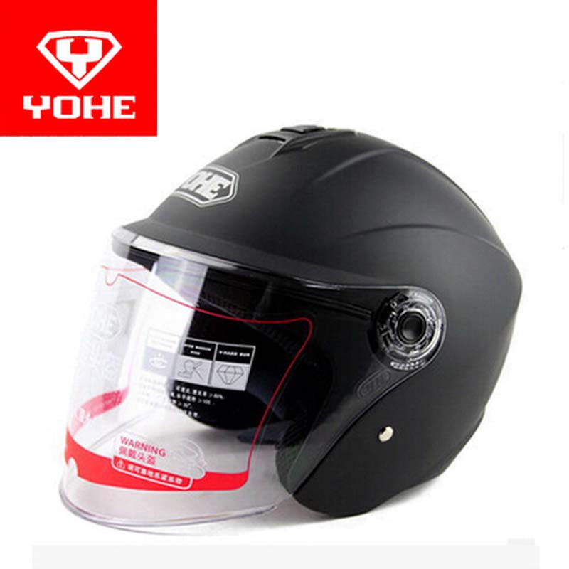 2016 Summer New YOHE half face motorcycle helmet motorbike helmets YH870A Made of ABS with transparent lens 9 color Size M L XL