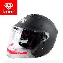 2016, лето, новый yohe пол-лица мотоциклетный шлем мотоциклетные шлемы yh870a изготовлен из ABS с прозрачные линзы 9 цвета Размер Ml XL