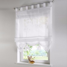Vertical Blind Tulled Curtains Jacquard Roman Blinds Floral White Sheer Panel Red Coffee/Office Short Tulle Window Door Curtain