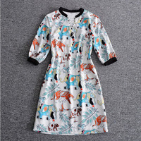 Europe And United States Spring And Summer Of 2017 New Foreign Trade Department Women Animal Printing