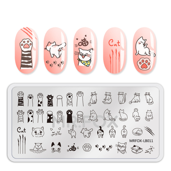 1PC Nail Stamping Plate Template Animal Fruit Dog Cat Unicorn Feather Flower Leaf Stamp Nail Stamping Plates For Nail Polish geometry flower nail stamping template negative space puzzle figure stamp nail manicure nail stamping plate