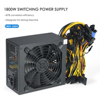 1800W Switching Server Power Supply High Efficiency Mining Machine Power Source For Ethereum S9 S7 L3