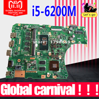 X556UJ Motherboard i5 6200 GT920/GT930 RAm For ASUS X556U X556UV X556UF X556UR X556UB X556UQ laptop Motherboard X556UJ Mainboard