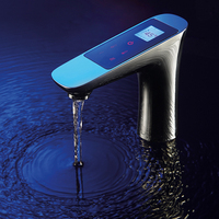 JMKWS бортике ЖК дисплей цифровой дисплей смеситель сенсорный экран термостатический ванная комната один кран хром латунь Смесители умываль...