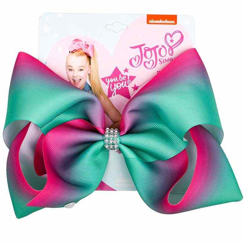 8 дюймов JoJo банты большие аксессуары для волос для девочек Дети заколка для волос из тесьмы ручной работы банты для волос банты Джамбо JOJO Siwa дропшиппинг