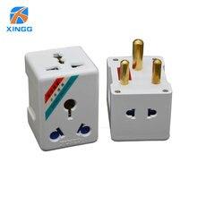 Südafrika Große Runde 3 Pin AC Power Elektrische Stecker Reise Adapter Zu UNS EU UK AU Plug Adapter Outlet buchse Adapter SICHERUNG 15A