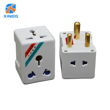 цена на South Africa Big Round 3 Pin AC Power Electrical Plug Travel Adapter To US EU UK AU Plug Adapter Outlet Socket Adaptor FUSE 15A