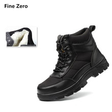 Тонкой zero унисекс Зимние теплые плюшевые Сталь носком Кепки Спортивная обувь Человек безопасная обувь горы Открытый Пеший Туризм Сапоги и ботинки для девочек проколов обувь