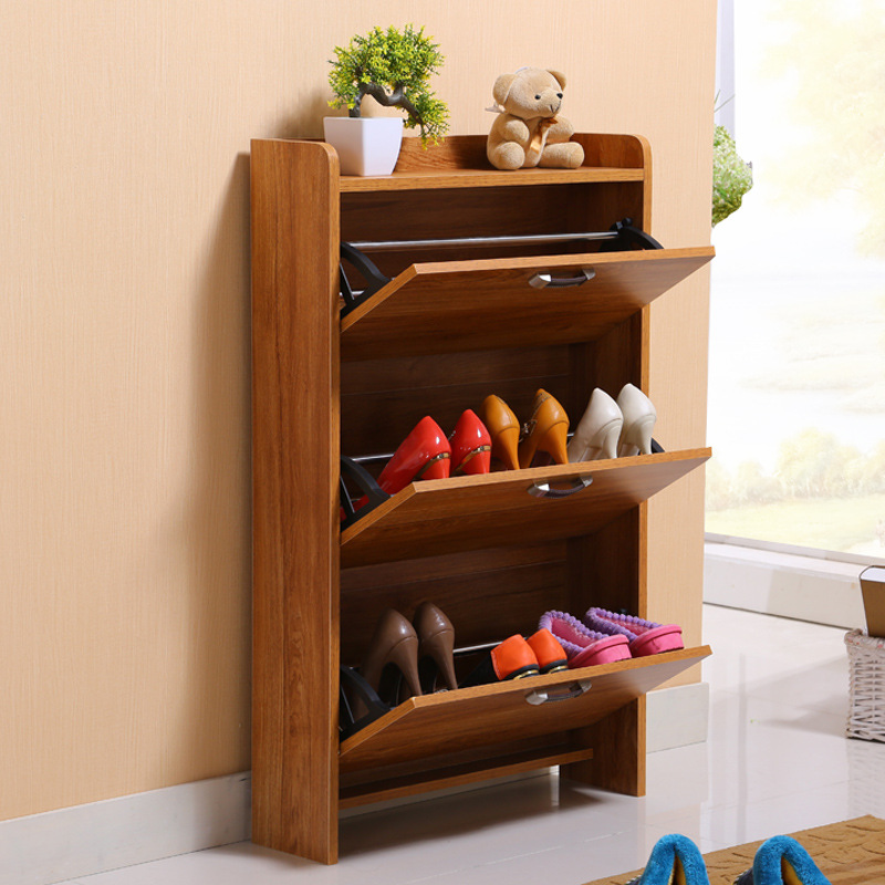 Shoe Racks Living Room Furniture Home Wood Panel Ultra Thin Skip Rack A B C Three Style Whole Can Customize In Cabinets From